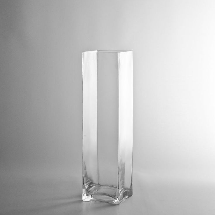 """12"""" Tall x 3"""" Square Glass Vase - Discount Wholesale Vases and Containers - Wholesale Flowers and Supplies"""