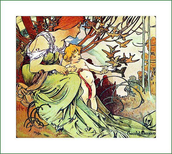 fabric panel - painting by Alphonse Mucha (52)