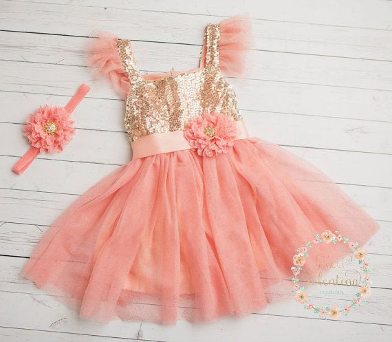Hey, I found this really awesome Etsy listing at https://www.etsy.com/listing/241684874/flower-girl-dress-pink-and-gold-girl