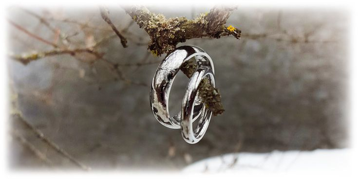"""Eclipse"" is a timeless style, worn by men or women. A great choice for matching wedding bands.  Most popular band width for women is 3mm, while for men is 8mm.  Titanium Rings, Wedding Bands"