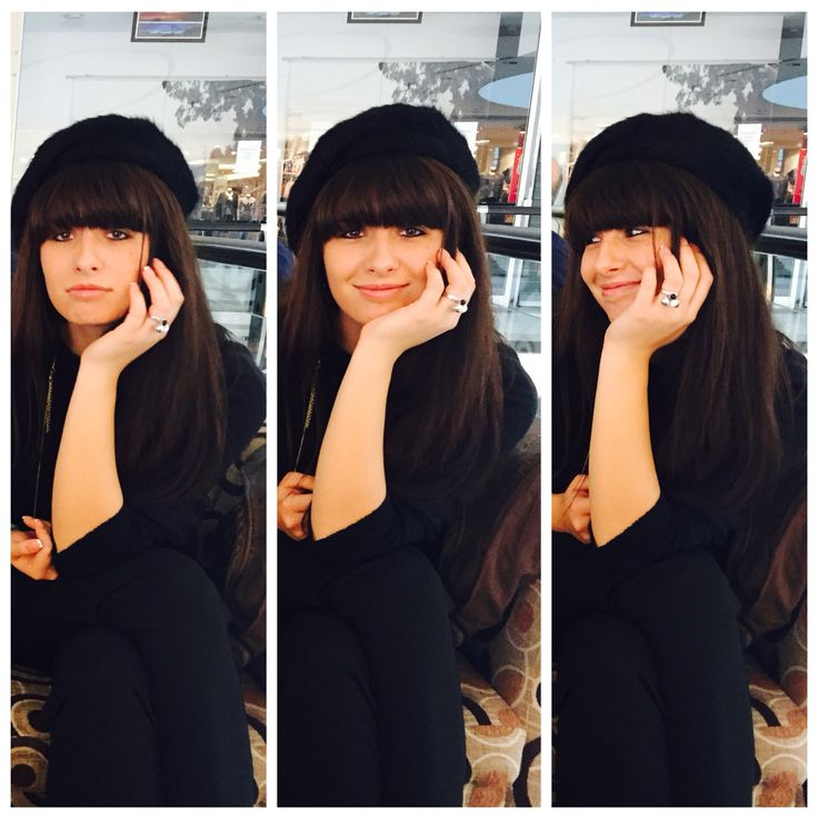 Bangs and a french beret ! More inspo at www.closertofashion.com