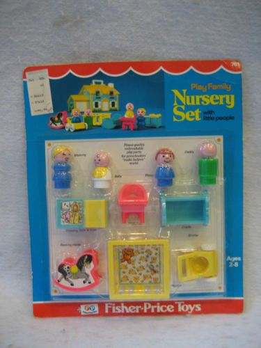 Sealed Vintage Fisher Price Little People Nursery Set 761 Unopened Moc Toy Rare Toys Pinterest