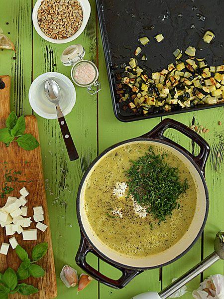 Zupa z pieczonej cukinii ze skwarkami z... cukinii - etap 5