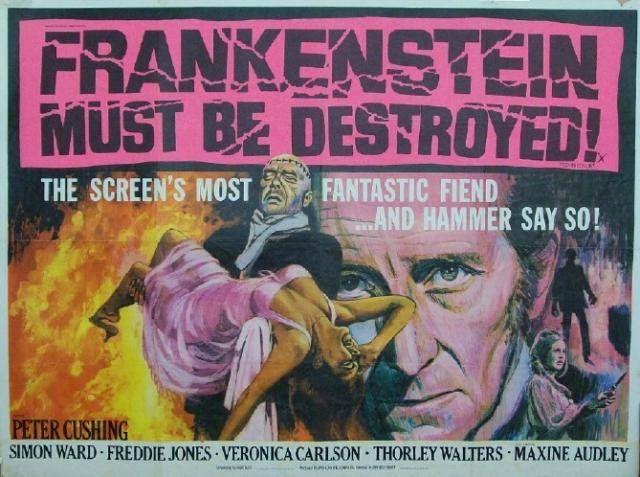 """[3] Sept """"Frankenstein"""" sortiront au total des studios Hammer, d'une qualité inégale, de plus en plus éloignés du roman de Mary Shelley."""