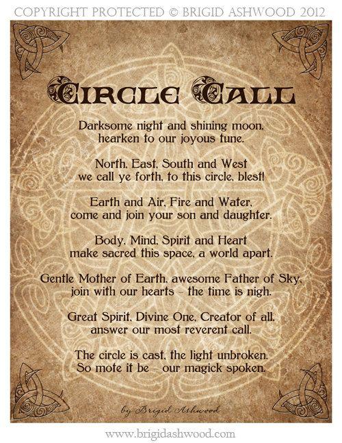 Circle Call -  Pagan Wiccan Print - Brigid Ashwood. $15.00, via Etsy.