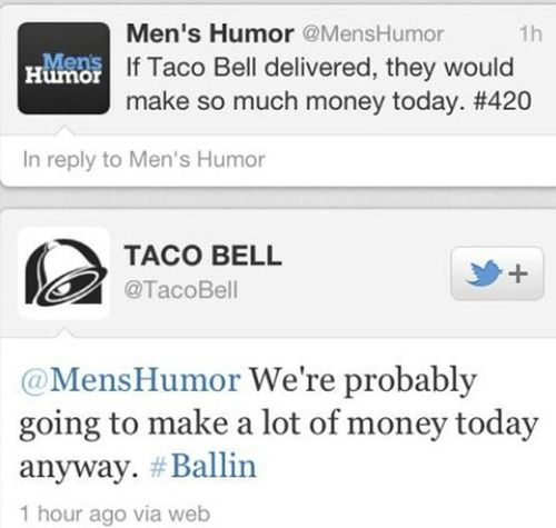 Taco Bell Tweets are sooo funny!!