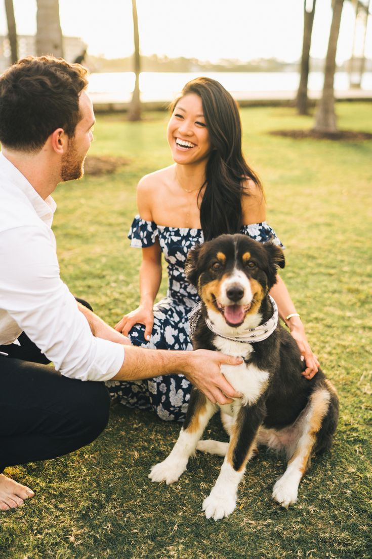 Couples Session with their pup on by Donna Irene Weddings