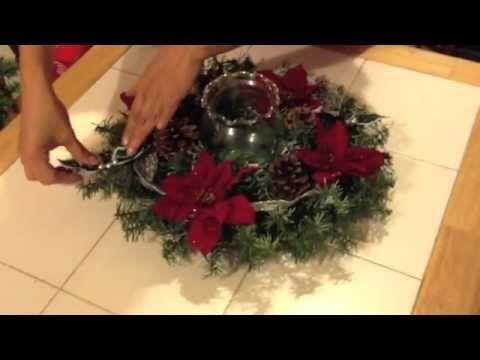 How to do a Christmas Centerpiece- DIY centro de mesa para navidad - YouTube