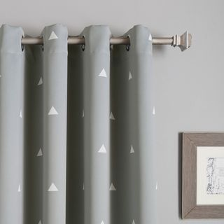 Decorate your window with our small triangle print room darkening curtains. Simple triangle geometric designs, trendy colors, and modern vibes --these curtains go with almost all settings. Available i
