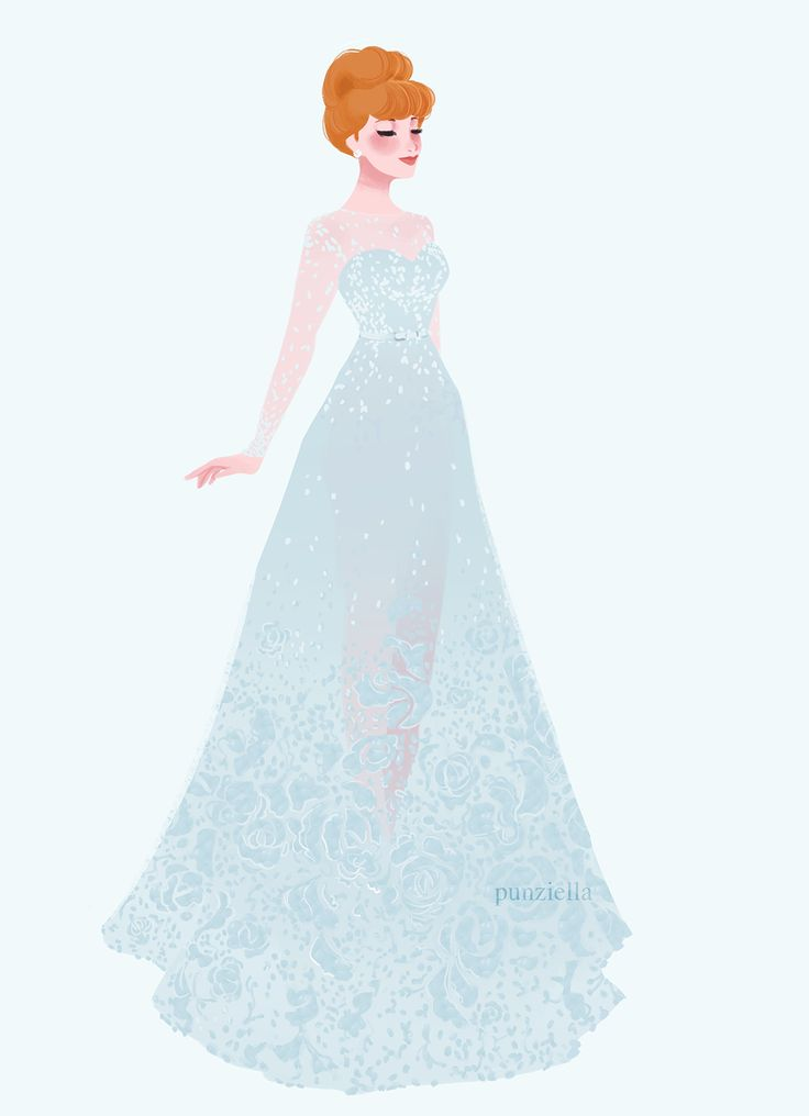 """punziella: """"caitthetravelingprincess commissioned me to draw pretty dresses on pretty princesses"""