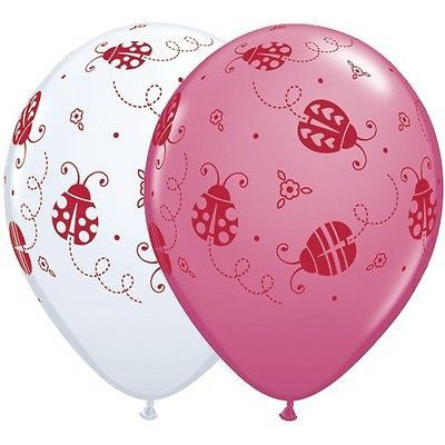 "5-20pc 11"" Sweet Ladybugs Around Latex Balloons Party Decoration Lady Bug Garden"