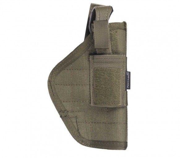 Pistolera Pentagon Rinkhals.  La pistolera Pentagon Rinkhals se cuelga directamente del cinturón. Accesorio de equipamiento táctico y airsoft muy cómodo, compatible con la mayoría de las pistolas de tamaño medio. La altura de la correa puede ser variada. Fabricada en resistente nylon 1000D.