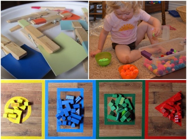 2012 Playtime3. A variety of color sorting activities that also reinforce language ans shape.