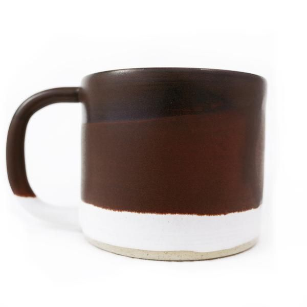 Rachel Saunders Ceramic Handmade Camper Mug in Brown, A Canadian Product on Chill Bay General www.chillbay.ca