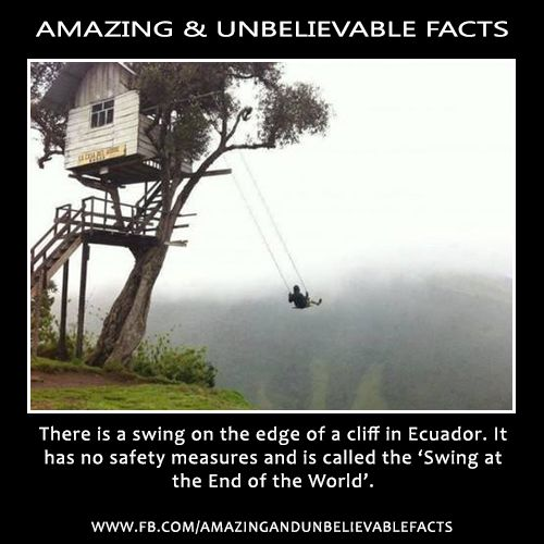 The Swing At The End Of The World In Banos Ecuador