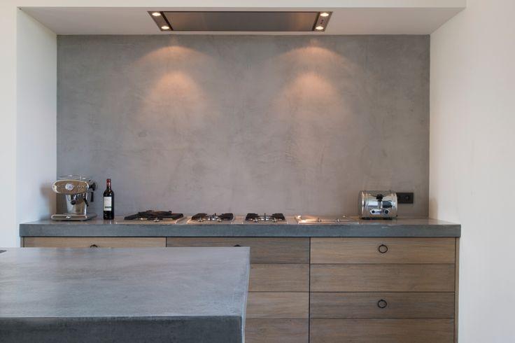 keuken betonnen wand