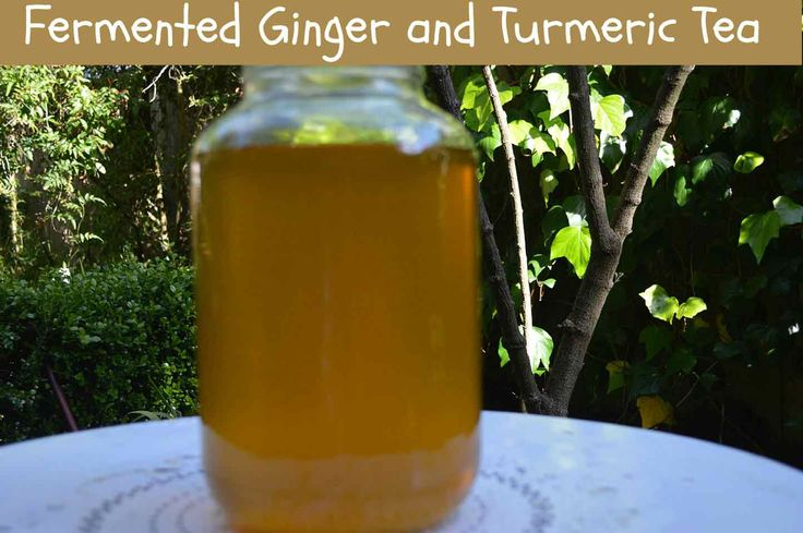 Fermented Tea with Ginger and Turmeric • Mind Body Oasis.  《Pinned for flavor -- I don't want to use my grains in other than water -- I'll figure somthing out 》