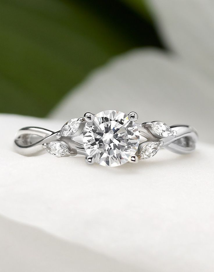 Petite Luxe Twisted Vine Diamond Ring Wedding