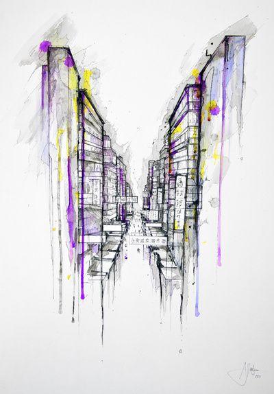 This City Sleeps Art Print by Marc Allante | Society6