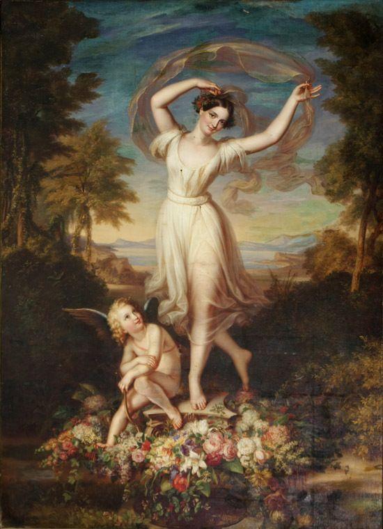 Fanny Elssler as La Sylphide, painted by Karl Joseph Begas ...