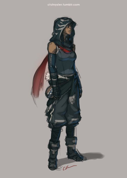 A slightly more awesome, assassin-like Korra.<< SLIGHTLY? This is THE coolest thing since Lin got her bending back