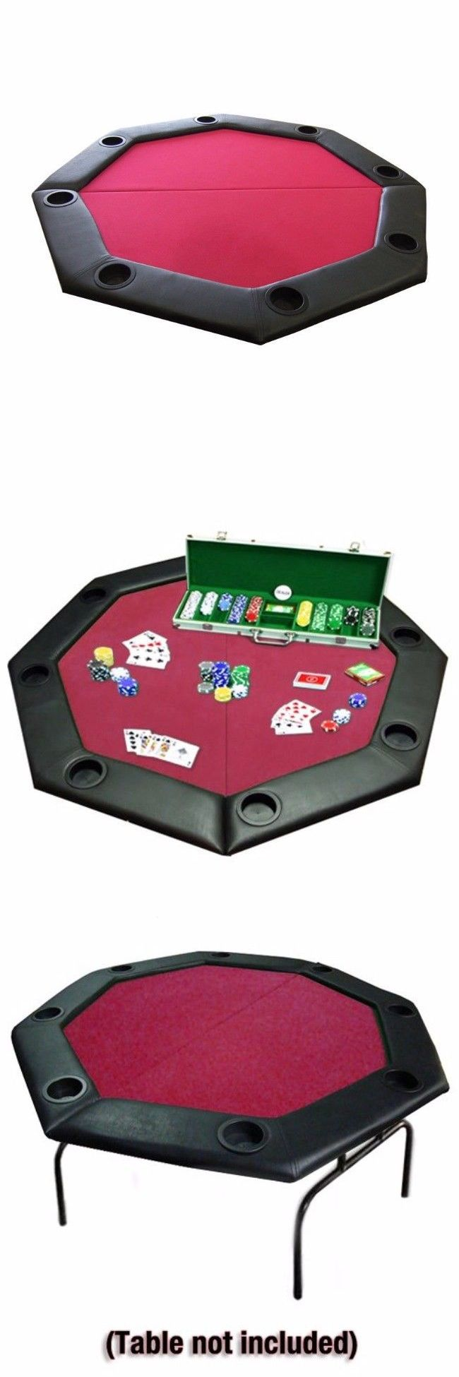 Card Tables and Tabletops 166572: Poker Table Octagon Folding Padded Rail Cup Holders Carrying Case Games Night -> BUY IT NOW ONLY: $128.05 on eBay!