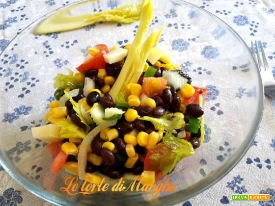 Insalata di fagioli neri con verdure  #ricette #food #recipes
