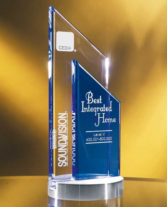 "The Glass Peak Duet Award is a fusion of clear and blue optical glass, deep etched with your custom engraving and logo. The award is elevated on a handsome brushed silver base. This crystal award measures 9.5"" height and lends itself well to corporate recognition events. Shipping our glass awards anywhere in the world is never a problem.    http://www.edco.com/cat/glass-awards"