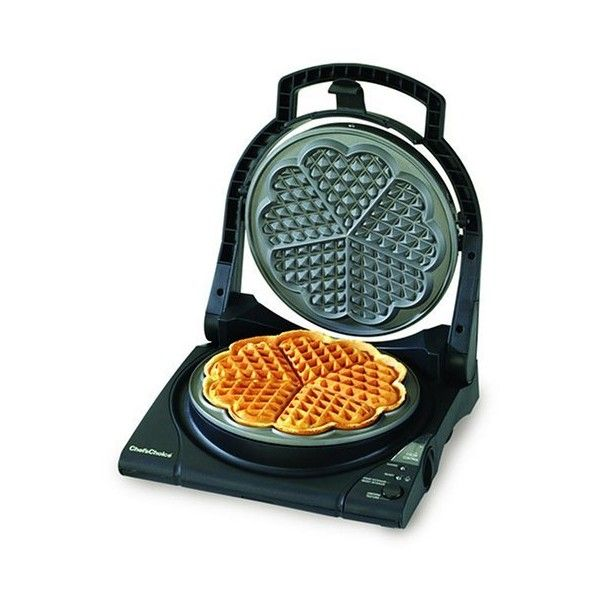 Chef's Choice 840 WafflePro Express Waffle Maker, Traditional Five of... ($63) ❤ liked on Polyvore featuring home, kitchen & dining, small appliances, traditional waffle maker and traditional waffle iron