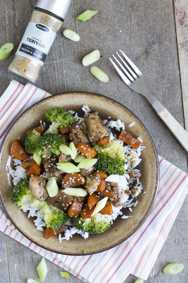 Lekkere maaltijd: Kip teriyaki met rijst | via BrendaKookt.nl
