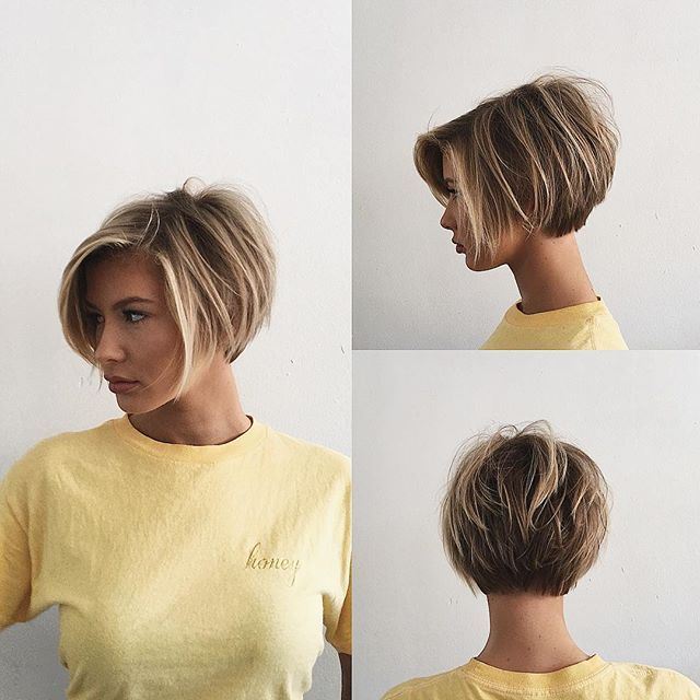 Short bobby|| w/ @adrianna.christina|| texture|| undone|| soft|| modern|| cut by @domdomhair|| color by @mizzchoi|| @behindthechair_com #behindthechair || @american_salon #americansalon || @modernsalon #modernsalon || #hair #hairstyles
