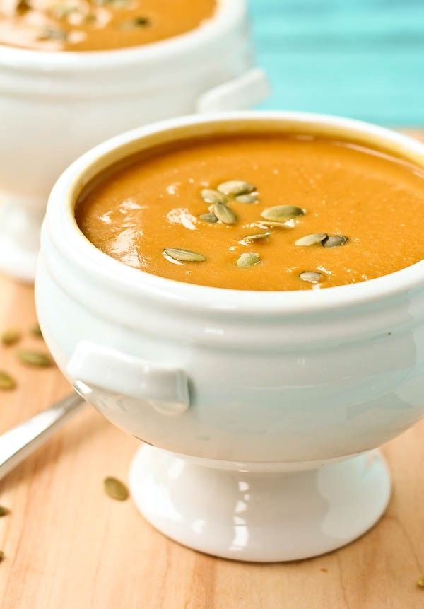 This Copycat Panera Bread Squash Soup tastes just like the original, but I made it a bit healthier!