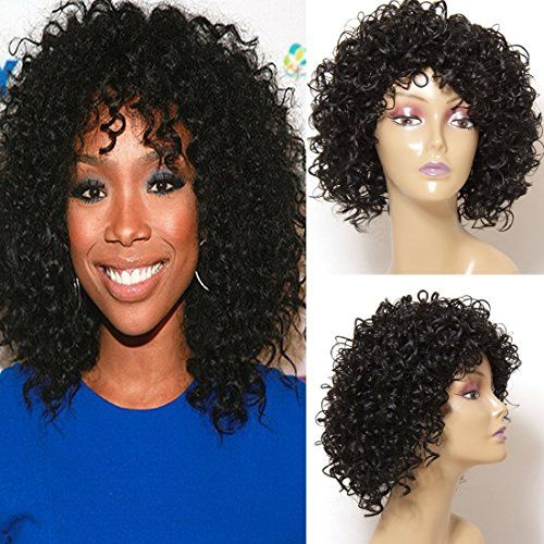 Jolia Hair Fashion Gorgeous Hairstyles Synthetic Short Curly Wavy Full Hair Wigs for Women Natural Look Jet Black (D03)