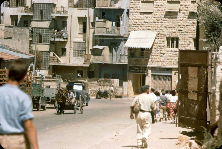 Jerusalem, July 1950. Katcoff collection.  רח' אגריפס פינת אבן ישראל