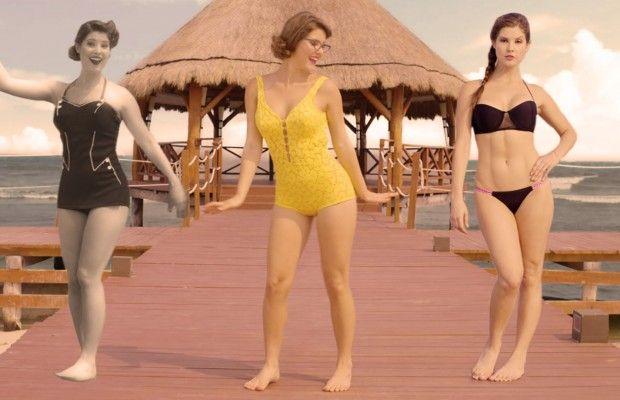 L'évolution du bikini – L'ancienne Playmate Amanda Cerny se prète au jeu du défilé