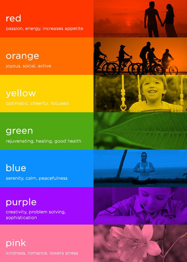 Colours And Their Moods color psychology: 7 colors & how they impact mood - the honest