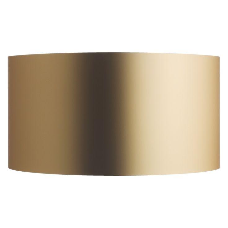 METALLICO Gold metallic drum lampshade 35 x 18cm