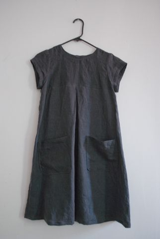 "Download pattern from ""Burda Style"" cute smock dress in linen:                                                                                                                                                      More"