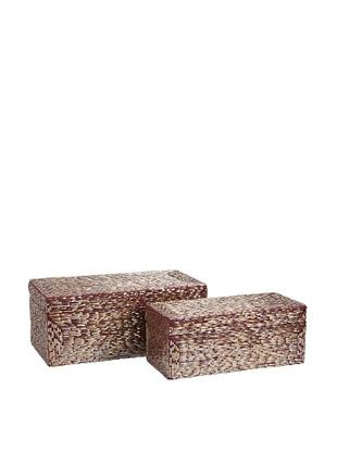 72% OFF Set of 2 Pink Glimmer Boxes