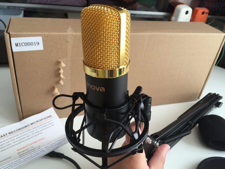 Crenova MC-05コンデンサーマイク 卓上マイク マイクスタンド スタジオレコーディング…