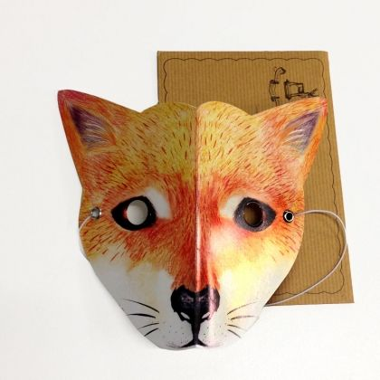 DINGO mask card Interactive wearable Aussie animal card