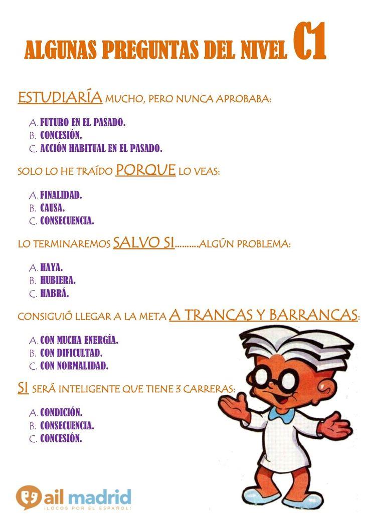 (NIVEL C1) Hoy quiero debatir con vosotros algunos puntos del nivel C1. Dejad vuestra respuesta en comentarios y la semana próxima os daré la solución, ¡así tenemos tiempo de intercambiar opiniones! — at AIL Madrid Courses - Learn Spanish in Spain.