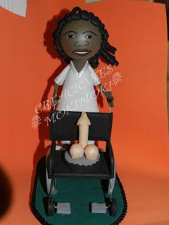 Fofucha mujer con silla de ruedas (especial despedida de soltera)