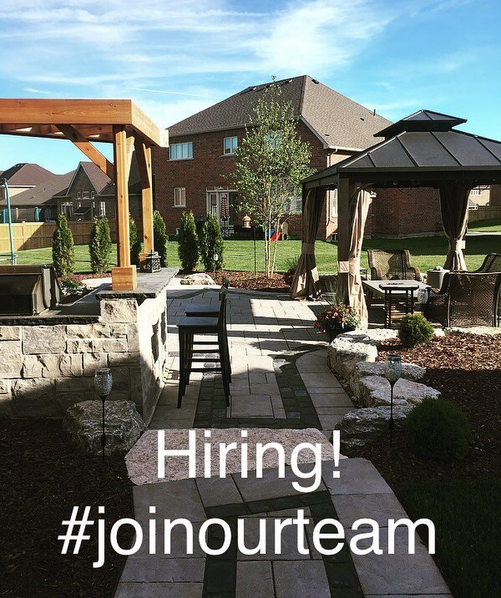 We are hiring for the upcoming landscaping season! We have some exciting projects coming up this year and want YOU to be a part of it. Offering competitive wages vacation pay paid statutory holidays benefits and potential for year round work. Email your resume to kaitlyn@stonemarklandscaping.ca . . . #hiring #joinourteam #landscaping #hardscaping #stonemark #designandconstruction #seasonal #fulltime #FUN #bigprojects