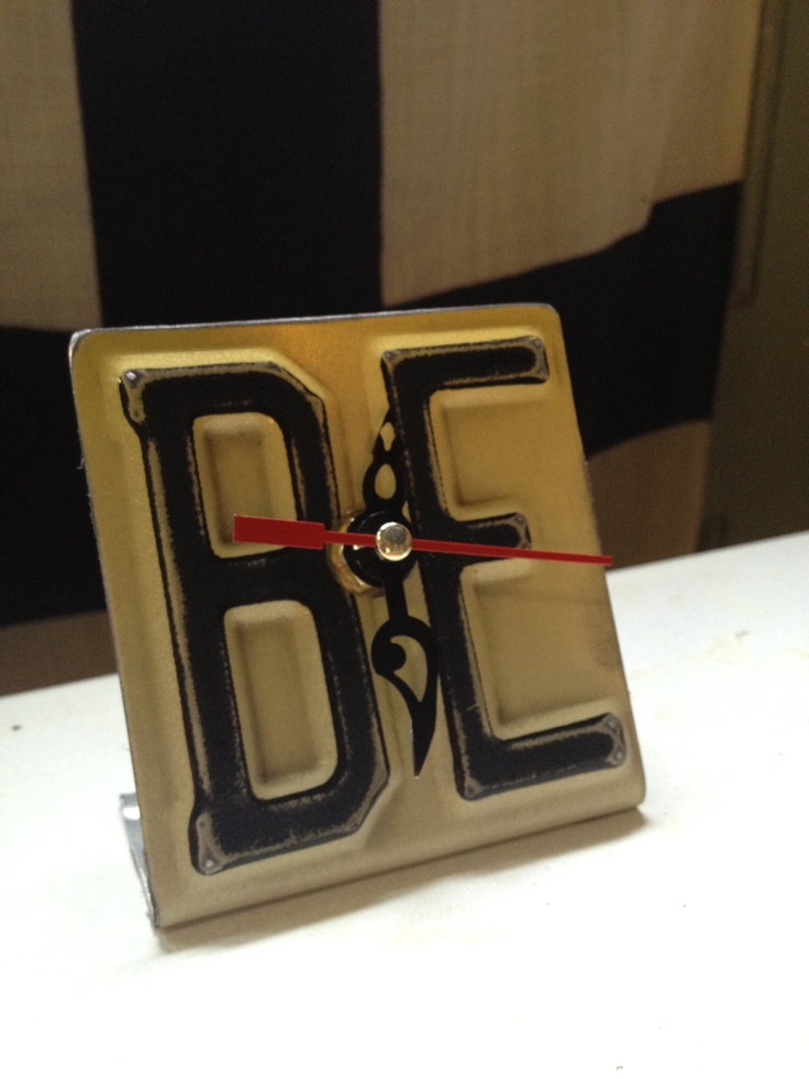 Assembled Art And Cool Things For Your Home Using Vintage Found Items Such As License Plates