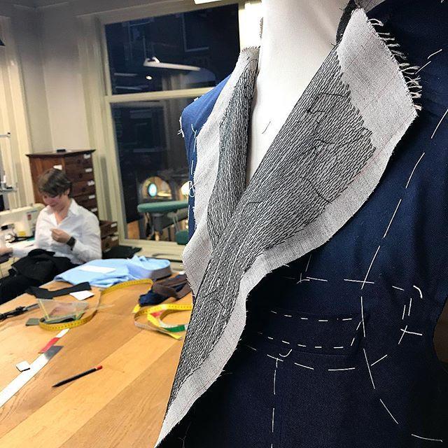 Craftsmanship @newtailor #suit #bespoke #sartorial #tailormade #handmade #handtailored
