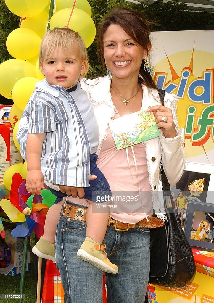 Kari Wuhrer and son Enzo at A Kid's Life during Silver Spoon Hollywood Buffet for Dogs and Babies - Day 2 in Los Angeles, California, United States. (Photo by Jean-Paul Aussenard/WireImage for Silver Spoon (formerly The Cabana))