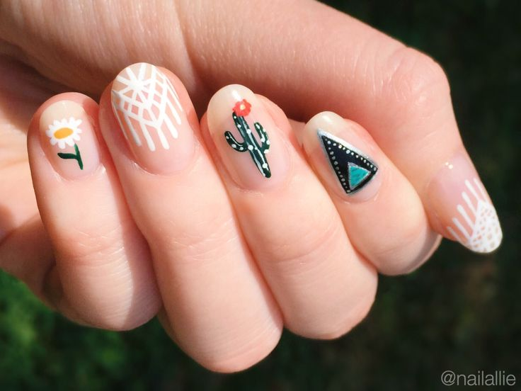 Southwestern nails inspired by @mananails.