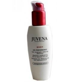 Juvena  BODY LEG PERFORMANCE - Hair Re-Growth Reducing Emulsion  Für wunderbar seidige und erfrischte Beine mit einem vermindertem Erscheinungsbild der Haare. Diese wirksame Lotion mit einzigartigem Granatapfelextrakt hilft der Haut, ihre Geschmeidigkeit und Elastizität zu verbessern. Dank der Anreicherung mit Phyto-Extrakten hilft sie, den Haarwuchs zu verlangsamen, so dass Enthaarungen seltener durchgeführt werden müssen. .