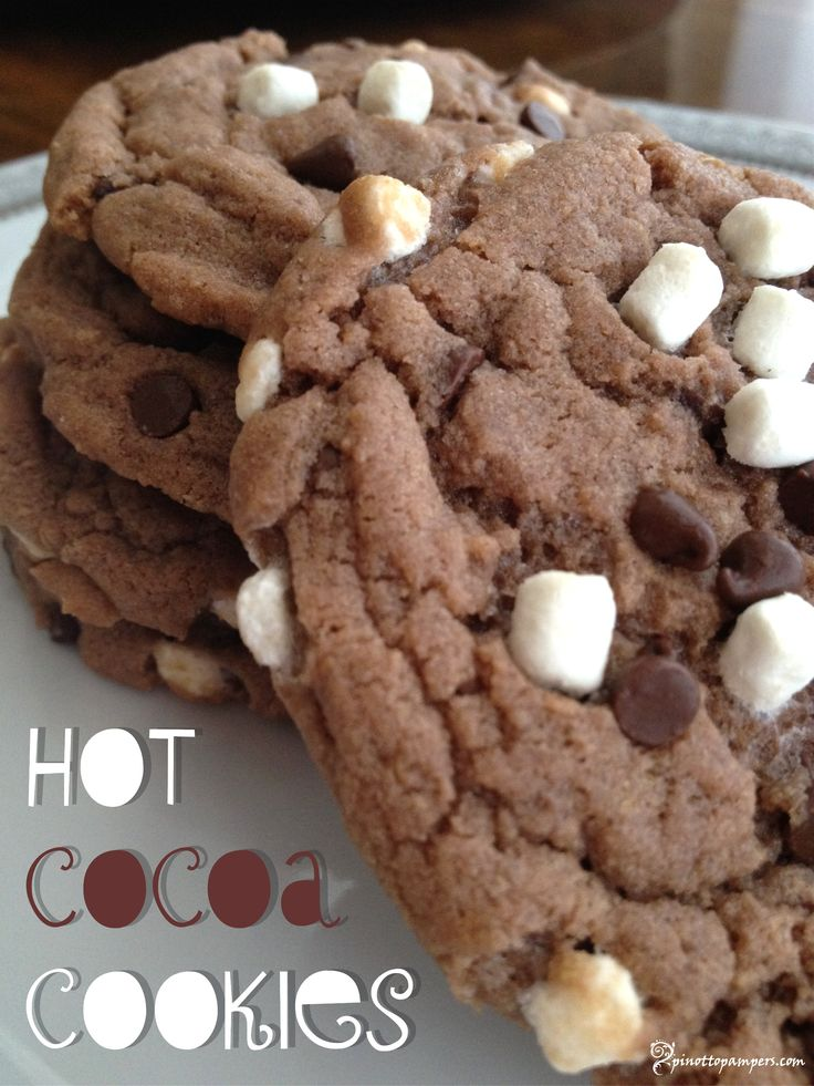 If at first you don't succeed… Keep baking until you make Hot Cocoa Cookies. | From Pinot to Pampers